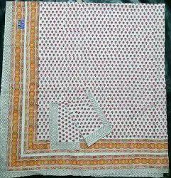 Handblock 108 inch X 108 inch Bed Sheets