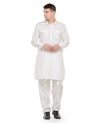 d8b41131ff Rg Designers Off White Pathani Kurta Salwar Set at Rs 2800.00 /pair ...