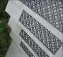 Rubber Stair Tread (Diamond Circle Design Indoor Outdoor Non Slip Stair Tread)