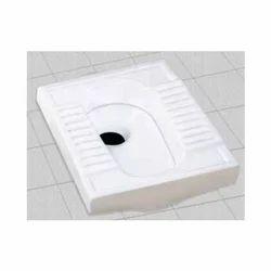White Open Front Sanitary CT Pan