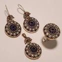 Turkish Copper Ring Pendant Set