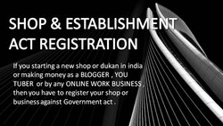 Best Shop and Establishment Law Consultant in UP