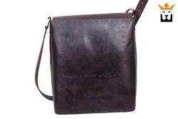 Square Leather Saddle Bag Large