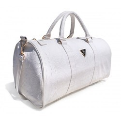 6d965e1e785b85 White, Light Brown Earthyy Bags White Duffle Bag