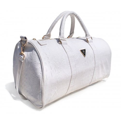 White Light Brown Plain Duffle Bag