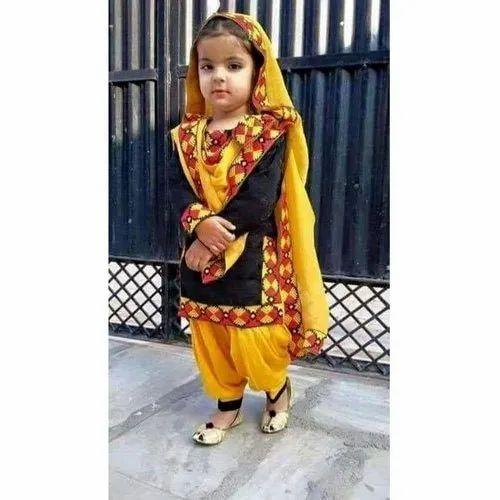 fancy-kids-punjabi-suit-500x500 Punjabi Dress for Kids- 30 Best Punjabi Outfits for Children