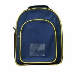 Nylon Fiber Plain Kids School Backpack