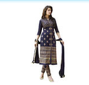Ladies Dark Blue Pakistani Suit