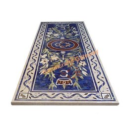 Beautiful Marble Inlay Lapis Lazuli Table Top