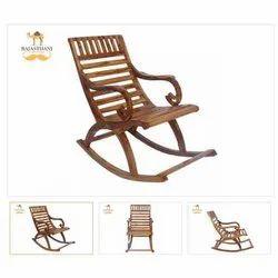 Rajasthani Furniture H 37 X W 24 X D 38 Adele Sheesham Plywood Rocking Chair, Finish: Boston Brown
