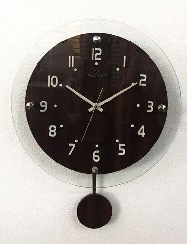 Wood Craft Black Wall Clocks Gupta Watch Electronics Id