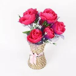 Mixed Synthetic Artificial Flowers For Home Decor, Packaging Type: Single Piece Packing