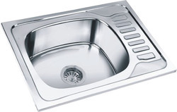 SS Sink Single Bowl With Drain Board
