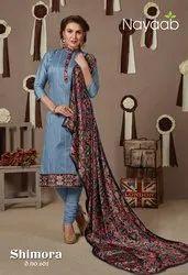 Nayaab Blue Embroidered Ladies Suit