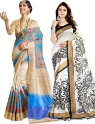 Multicolor 6 m (with blouse piece) Bhagalpuri Sarees, Without Blouse Piece