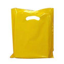 Yellow D cut poly Bag