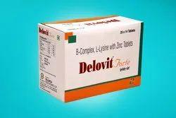 B Complex L Lysine Folic Acid Zinc Tablet