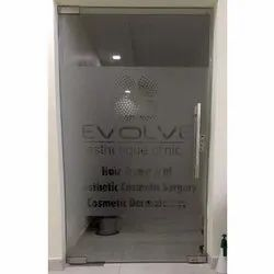 Transparent Vinyl Etched Glass