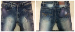 Shades Of Blue & Black Regular Fit Mens Rugged Denim Jeans