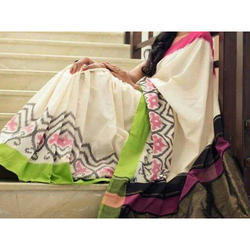 Pochampally Double Ikkat Silk Saree, 6.3 m (with blouse piece)