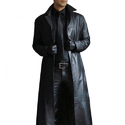 Men Genuine Lambskin Pure Leather Trench Coat