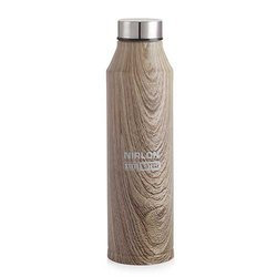 Nirlon Stainless Steel Wood Marble Freezer Bottle 1000ml - Crystal