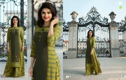Vinay Fashion Tumbaa Polo Rayon Kurtis With Free Size Palazzo Sets
