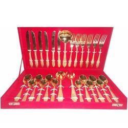 Rroverseas Brass Cutlery Set