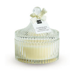 Ribbed Bell Glass Candle