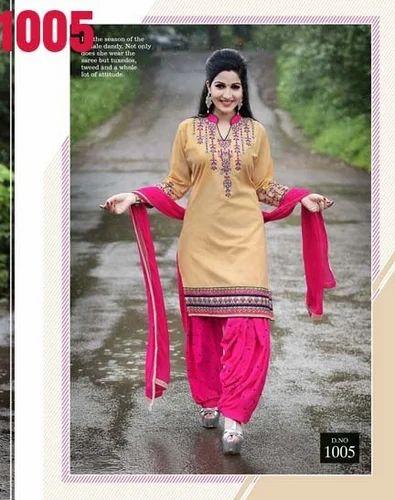 76651100d7 Cotton Printed Punjabi Kudi Patiyala Suit, Rs 550 /piece | ID ...