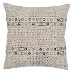 Contemporary Printed Embroidered Cotton Cushion Cover