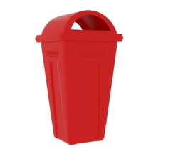 Red 80 Liters Industrial Dustbin