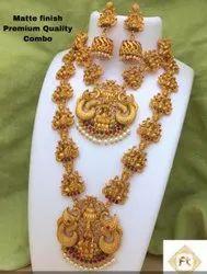 Karishma Kreations Matte Finish Combo Jewellery Set - 100625100