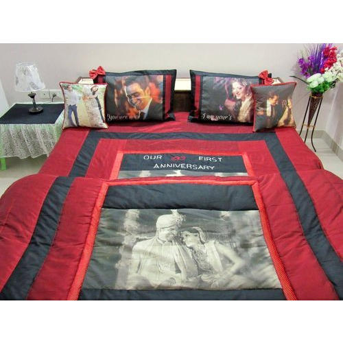 Personalized Photo Printed Comforter Bedsheet