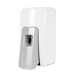 Soap Dispensers Soft Push White & Grey
