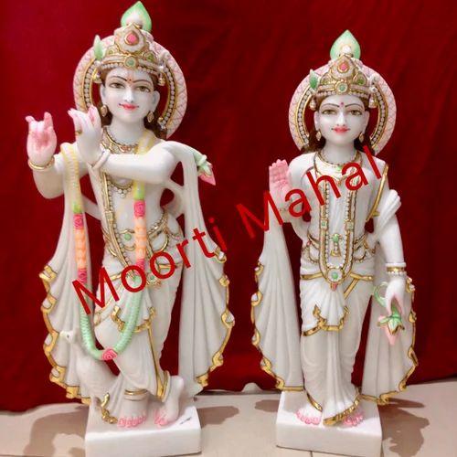 Polished Radha Krishna Statue