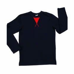 Mens Full Sleeve V Neck T-Shirt