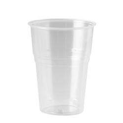 Plain Disposable Plastic Glass, Packaging Type: Packet