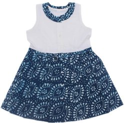 BCI Cotton Kids Discharge Printed Frocks