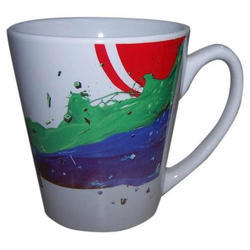 Conical Printed Coffee Mug