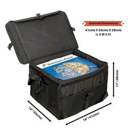 Black Pizza Delivery Bags, Size/Dimension: 41 X 33 X 28 Cm (l X W X H)