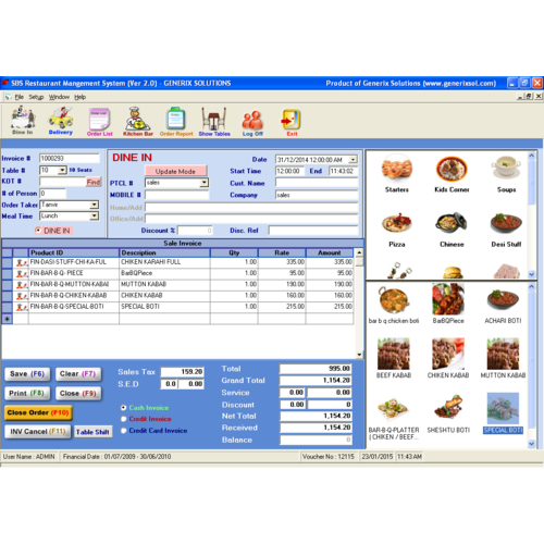 Restaurant Erp Management Software
