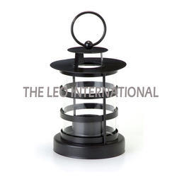 Black Powder Coat Candle Lantern