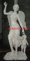 White Fiberglass Lady Statue, For Interior Decor And Exterior Decor