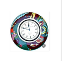 Analogue Shining Painted Wooden Clock