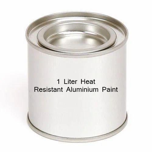 1 Liter Heat Resistant Aluminium Paint, Packaging Type: Tin