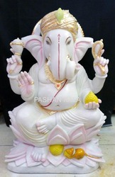 White Marble Ganesha