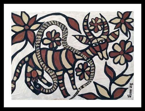 Jharkhand Folk Tribal Paintings - Sohrai Tribal Folk Paintings of Jharkhand  Non Profit Organization from Jamshedpur