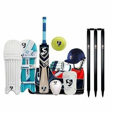 4e97e41a4 SG premium complete cricket kit with english willow bat in senior size