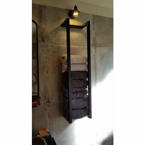 Wood Wall Mounted Wooden Towel Rack, Wooden Towel Hooks For Bathrooms